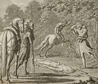 D. CHODOWIECKI (*1726), Idris und Zenide, 1789, Radierung