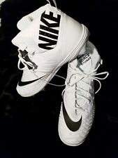 New Nike Force Savage Elite D Promo Men's Sz 17 Football Cleats White 923304-101