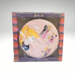 NRFB *SCARCE* 1961 MATTEL BARBIE & KEN PINK VINYL ROUND GIFT PILLOW