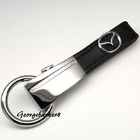 Mazda leather keyring with gift box for him her mum men girlfriend friend wife