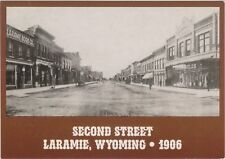 Second Street Looking South in Laramie, Wyoming - Three Rules & Book Co. in 1906