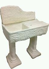 lavandino lavabo acquaio lavello in cemento  effetto pietra roccia con basi