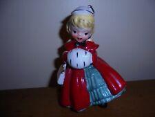 VINTAGE 1956 NAPCO CHRISTMAS GIRL CERAMIC FIGURINE   AX169O C