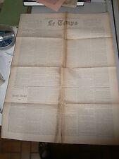 Journal Le Temps Paris année 1900