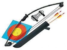 Jugend Compound Bogen Starter Set + Pfeile Köcher Armschutz NEU Komplett Kinder
