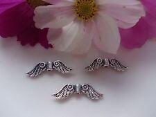 50 ailes d'Ange Piano à queue argent antique 24 x 7 mm perles de métal spacer