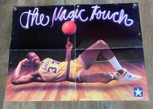 Vintage LA Lakers The Magic Touch Magic Johnson Converse Shoes Wall Poster 17x22