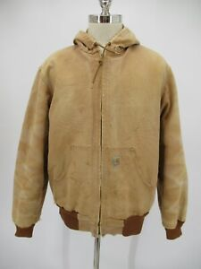 L8511 VTG Carhartt Men's  Thermal-Lined Duck Active Hoodie Work Jacket Size M