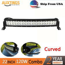 20inch Curved 120W LED Work Light Bar Combo OffRoad SUV Lamp Car Light Truck US