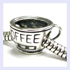 Sterling Silver Coffee Cup Mug Love Drink Relax Bead for European Charm Bracelet