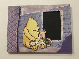 Disney WINNIE THE POOH & PIGLET Photo Picture Frame MICHEL & CO VINTAGE STYLE