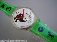 RABIT & RABAT! Funky Green YIN-YANG Zen Swatch Watch-NIB!