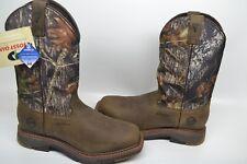 Double H Men's DH5142 Wide Square Toe Roper Work Boots Mossy Oak 9 D WATERPROOF