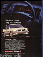 1991 PONTIAC GRAND AM advertisement, Pontiac Grand Am Sport sedan