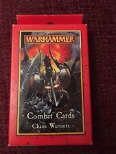 Warhammer Guerreros Caos Tarjetas de combate ~ Excelente Estado!