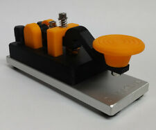 Orange Camelback Morse Code Key W/ Aluminum Base