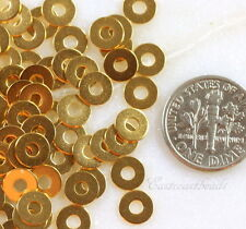 Micro Washers, Embellishments, Gold Plated, 6.35mm., TierraCast, 100 Piece, 7025
