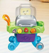 LeapFrog Smart Sizzling BBQ Grill Toy Kids Kitchen Playset with Play Food - New