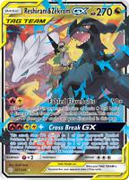 Carte Pokémon Reshiram Et Zekrom ESCOUADE GX FR Rainbow FAN MADE