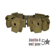 REPRO Khaki Canvas Webbing WW2 US Army M1942 BAR AMMO BELT MILITARY COLLECTION