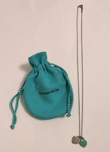 TIFFANY & CO Tiffany Blue Double Heart Tag Pendant Necklace Sterling Silver