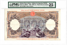 1938 Italian East Africa 1000 Lire P-4a Large Holder Pmg Vf25 Nice For Grade!