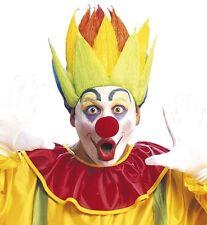 Pour homme multicolore clown spike perruque jester carnival drôle cirque pantographe fancy dress