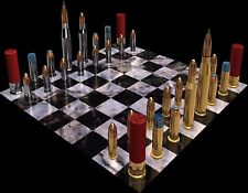 PICTURE OF A AMMUNITION CHESS SET  COMPUTER MOUSE PAD 9 X 7