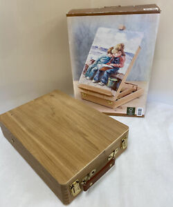 Wooden Artist's Easel with Storage Accessory Box In Original Box (D2)