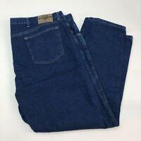 Wrangler Denim Jeans Mens 48X30 Blue Straight Leg Regular Fit Medium Washed