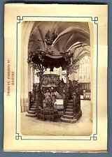 Belgique, Anvers, La Cathédrale (La Chaire) Vintage albumen print. Vintage Belgi
