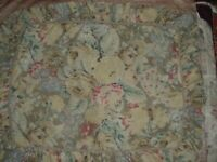 Set of 2 Waverly Country Floral Standard Pillow Shams Ruffle