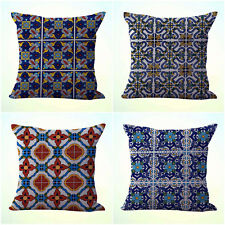 US Seller- 4pcs decorative pillow covers cushion covers Mexican Spanish talavera