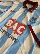 *ORIGINAL* WEST HAM UNITED WHUFC 1991/92 FOOTBALL AWAY SHIRT BUKTA Size Medium