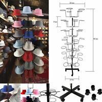 7 Tier  Metal Hat Cap Rack Hanger Display Stand Rotating Spinner Stand Floor