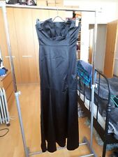 Coast black satin strapless ball gown dress with fishtail hem, size 10