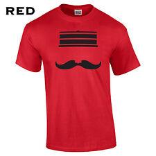 294 Redleg Face Mens T-Shirt mustache hat cincinnati funny baseball machine #
