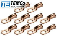 "f1 AWG 1//2/"" Hole Ring Terminal Lug Bare Copper Uninsulated Gauge"
