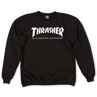 Thrasher Magazine Crew Skate Mag Black Crewneck Pullover Skateboard Sweatshirt