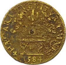 O3529 RARE Jeton Henri III Lorraine Louis III Cardina Saint Denis Reims 1584