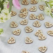 "Wedding Table Confetti - Love Heart ""Mr & Mrs""  - Ginger Ray Boho Range"