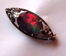 ANTIQUE ARTS AND CRAFTS LARGE OPAL DOUBLET BROOCH / PIN. FABULOUS COLOURS.