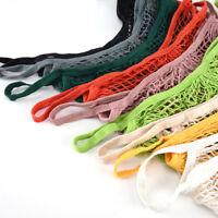 Eco Reusable Shopping String Grocery Handbags Woven Net Tote Mesh Bag Fishnet X