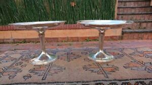 CHRISTOFLE PAIR OF CAKES PLATES ON STAND SILVERPLATE FRANCE