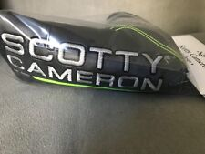 New Scotty Cameron 2018 Club Cameron Gray & Lime Green Blade Putter Head Cover