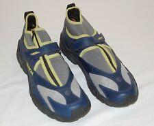 Mens Yukon Athletic Hiking Shoes 11.5 M Blue / Yellow Slip-On Zipper