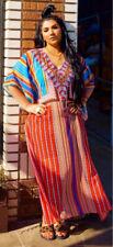 ASA LONG KAFTAN MAXI DRESS COVER UP STRIPED MEDIUM STUNNING