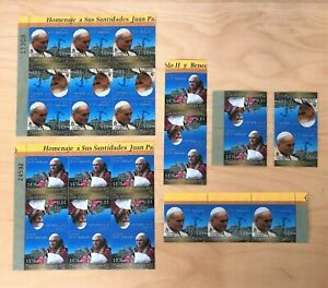 El Salvador 2005 - SC# 1673-4 Pope John Paul II Benedict - 14 Sets Stamps 2V MNH