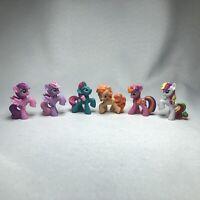 Lot of SIX (6) Hasbro MY LITTLE PONY MLP Blind Bag Orange Pink Purple Rainbow