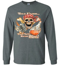 Funny Pirate Rum Saying T-shirt Long Sleeve Tee Decal Gifts for Men